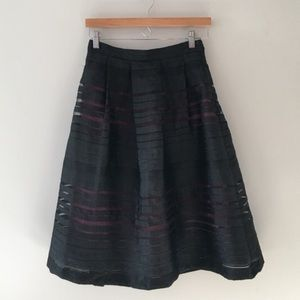 Forever 21 Ribbon Lace Full Skirt Size Small